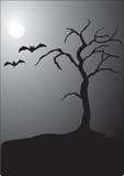 halloween night scene poster