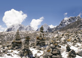 buddhist stones - nepal poster