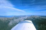 california sierras from light plane poster