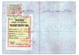 passport tourist visa poster