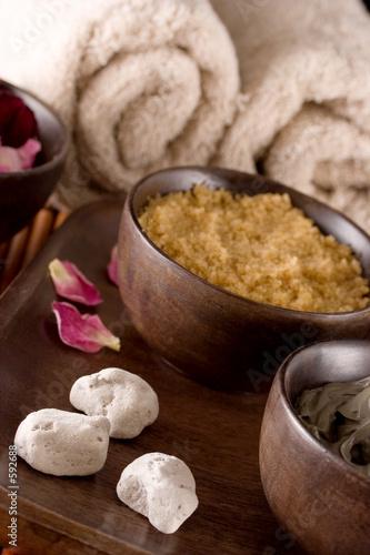Leinwandbild Motiv scented stones