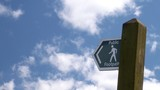 public footpath sign post poster