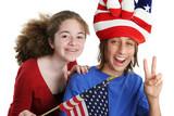 patriotic american kids poster