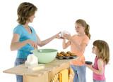 mother daughter baking poster