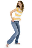 beautiful teen in jeans poster