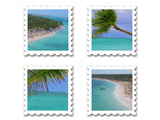 tropical stamps poster