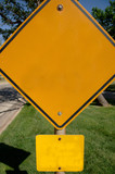 blank caution sign poster