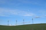 windmills at dusk poster