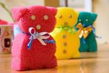 teddy bears made of sponge poster