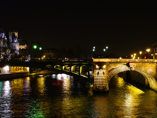 seine in paris just after sunset