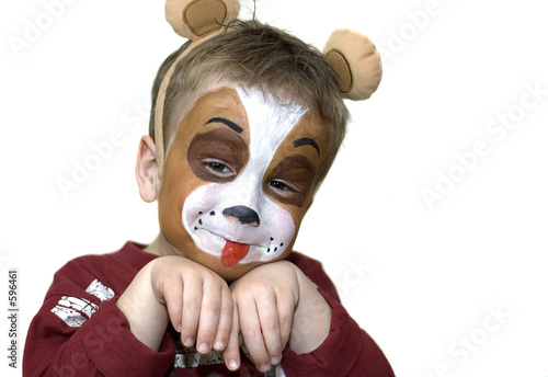 poster of face painted five year old
