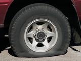 flat tyre tire wheel poster