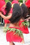 group of tahitian dancers poster