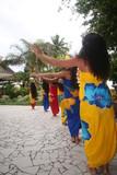tahitian female dancers poster