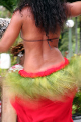 tahitian girl dancing