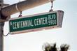 streetsign: centennial center boulevard