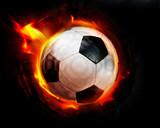 football through flames poster