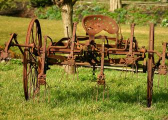rusted farm equipment