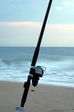 fishing pole at sunrise poster