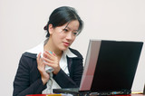 female employee poster