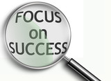 focus on success magnifying glass poster