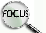 focus magnifying glass poster
