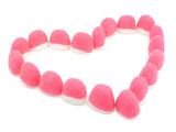 pink candies heart poster