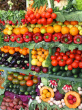 colorful vegetables and fruits poster