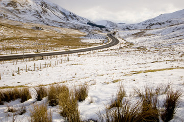 road through snowy scenery