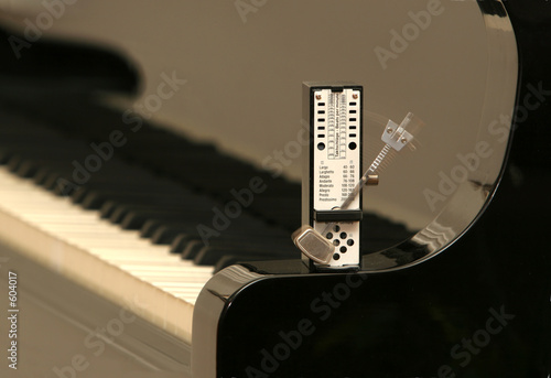 metronome on a piano