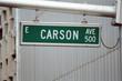 streetsign: carson avenue east