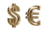 dollar and euro symbols poster