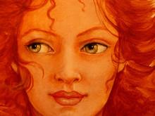 gezicht van jonge vrouw