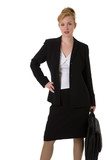 business woman with hand on hip poster