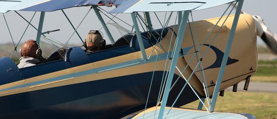bi-plan, vieux avion