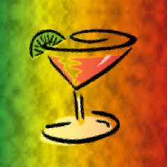 colorful martini art