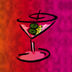 colorful dirty martini