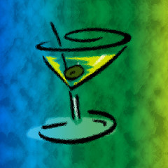 colorful lemon drop martini