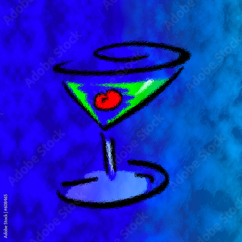 blue martini art