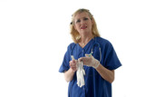 nurse putting on latex gloves ver2 poster
