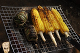 thailand: nice corn barbecue poster