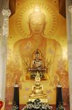 thailand, chiang rai: rongkun wat temple poster