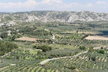 paysage des baux de provence