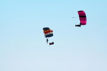 two parachutes
