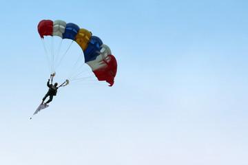 parachutist approaching