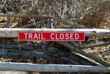 trail closed sign poster