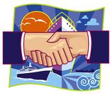 shipping partnership poster