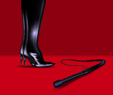 leather boots and whip poster