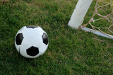 football - soccer ball and goal poster