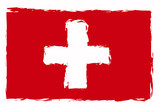 swiss flag illustration poster